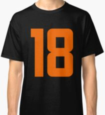 Orange Number 18 Classic T-Shirt
