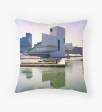 The Rock and Roll Hall of Fame and Museum, Cleveland Throw Pillow