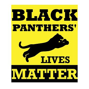 Halloween Panther Lives Matter Black Costume Shirt T-shirts & Treats by jetset201
