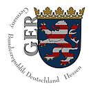Hessen coat of arms and large GER  by edsimoneit