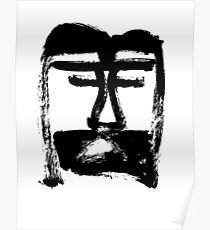 Head of Christ/Christ in Me - Black and White - Jenny Meehan Poster