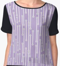 Dotted Lines in Lilac, White and Gray Chiffon Top