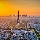Paris sunset by TomFezz