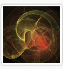 Abstract Art Magic Flame Sticker