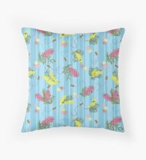 Busy Bees and Australian Flora Floor Pillow
