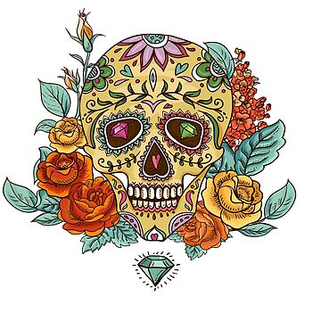 Diamonds Sugar SKull by JbandFKllc