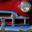 Red And Chrome With A Hint Of Reflection by artisandelimage