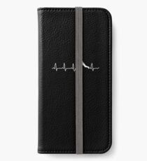Cricket Player, Cricket Heartbeat, Cricket Player Gift iPhone Wallet/Case/Skin
