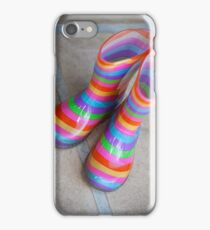 Rainbow gumboots iPhone Case/Skin