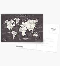The World Map Postcards