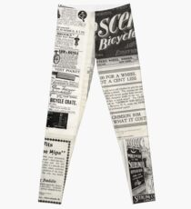 Retro Ad Wall Leggings