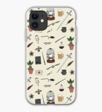 Owl and wand iPhone Case