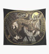 Desert wolf Wall Tapestry