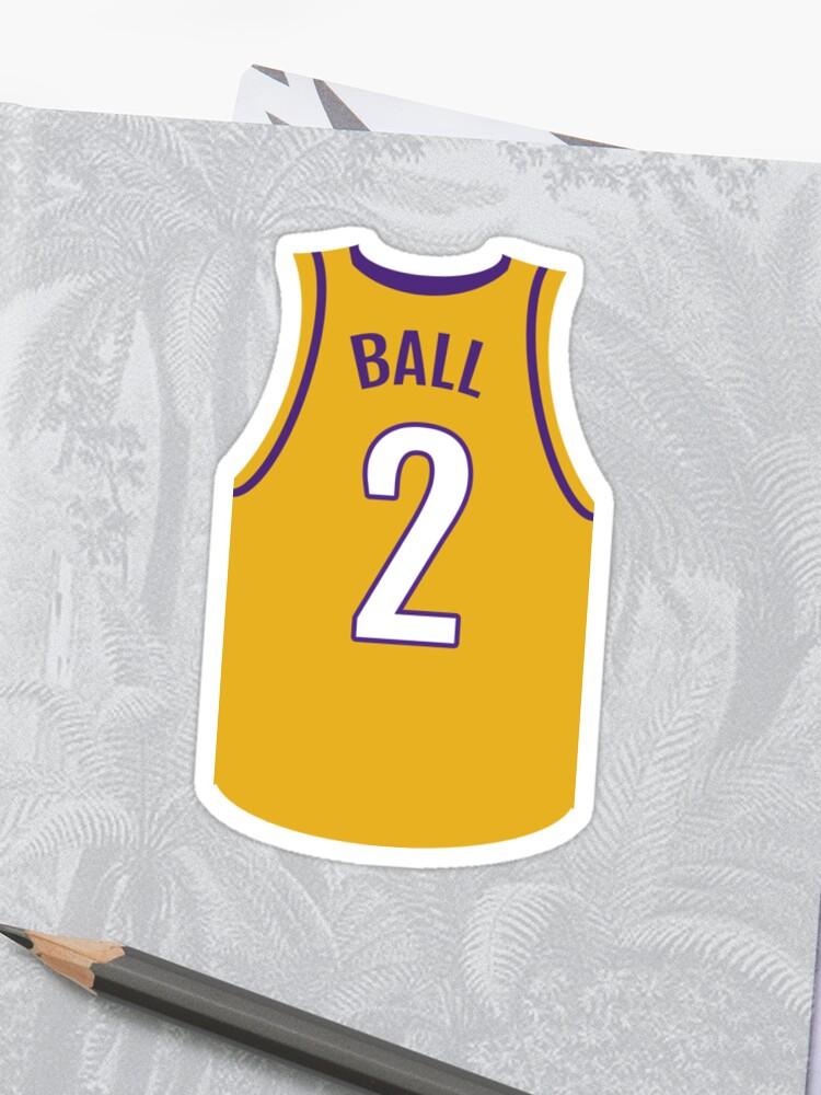 reputable site ce32e fd225 Lonzo Ball Jersey LA Lakers | Sticker