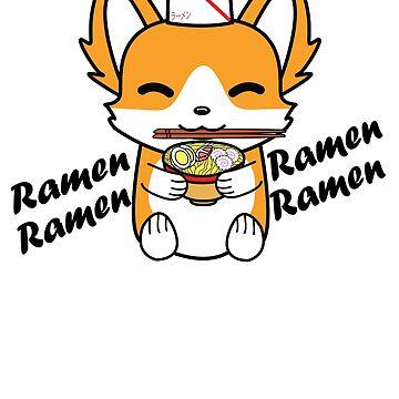 Ramen Corgi by KidCorgi