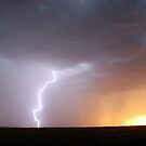 Goondiwindi Sunset Lightning 1 by Michael Bath