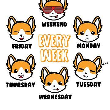 Every Week Corgi by KidCorgi