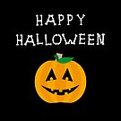 Happy Halloween Pumpkin Bone Lettering Dark Color by TinyStarAmerica