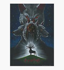Mononoke hime poster#3 San, Moro and her wolves Photographic Print