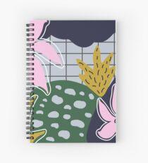 Rosa Blumen Spiral Notebook
