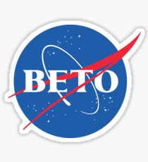 Beto O'Rourke NASA Logo Sticker