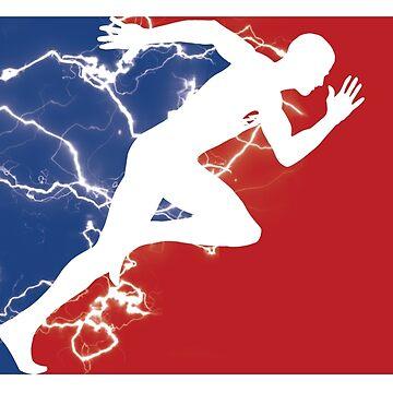 Runner Pro Sports Logo T-Shirt  by DrawingMaurice