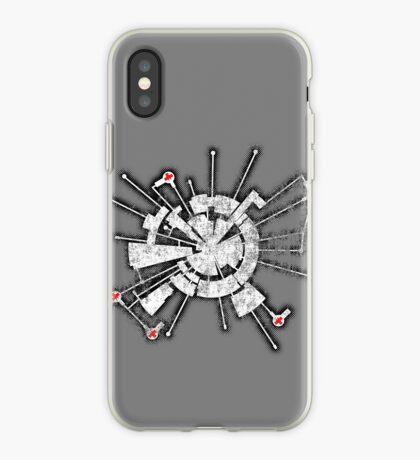 Alpha Moon Base Grunge Front iPhone Case