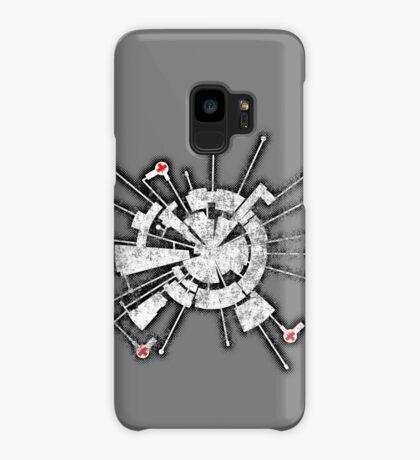Alpha Moon Base Grunge Front Case/Skin for Samsung Galaxy