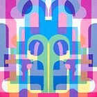 Weekend - Geometric Abstract Design by Jenny Meehan  by Jenny Meehan