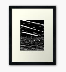 Screen Tear Framed Print
