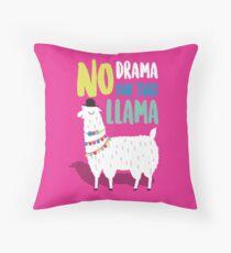 No Drama For This LLama Throw Pillow