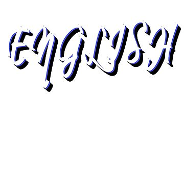 English graphic text design by jhussar