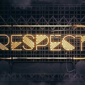 RESPECT – Neon Retro by Art-Frankenberg