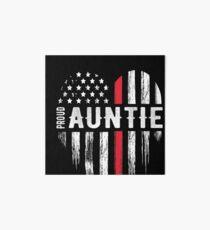 Thin Red Line Heart Aunt Auntie Firefighter Art Board