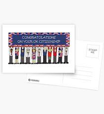 UK Citizenship Congratulations Postcards