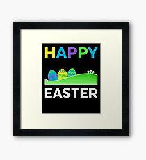 Happy Easter  Easter Egg Celebration Gift Framed Print