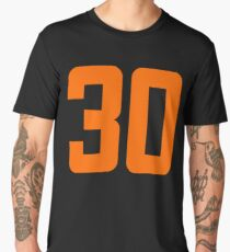 Orange Number 30 Men's Premium T-Shirt