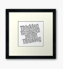 Thinking !  Framed Print