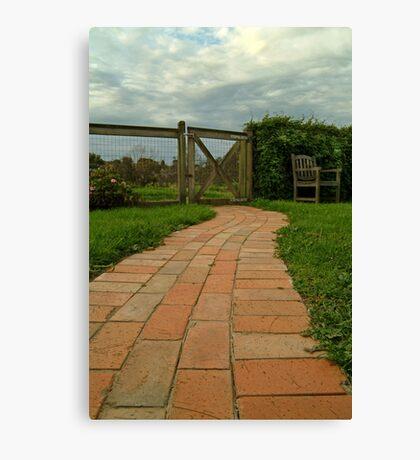 Up The Garden Path Canvas Print