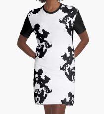 Rorschach inkblot 4 Graphic T-Shirt Dress