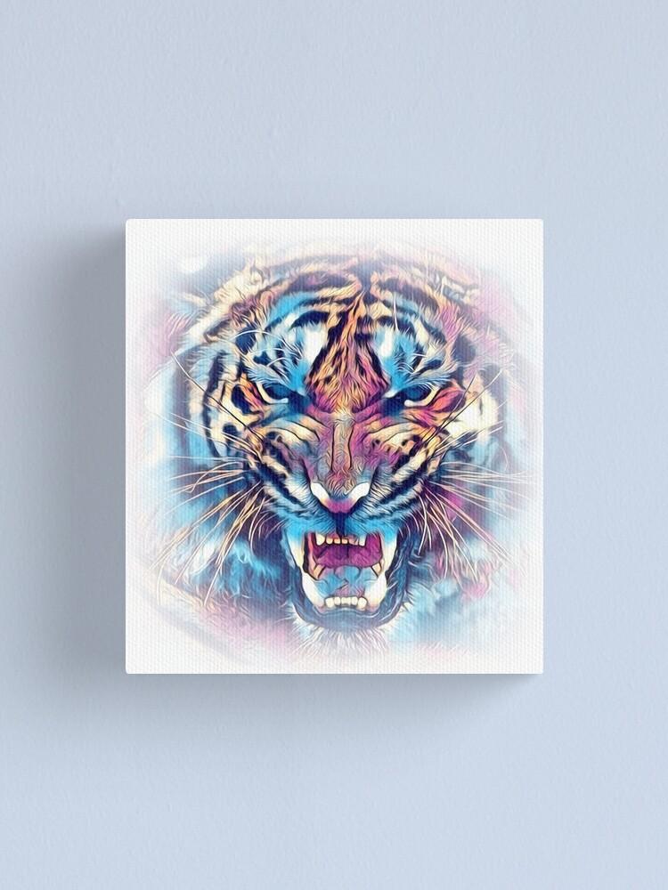 Alternate view of tiger art illustration color design fun Canvas Print