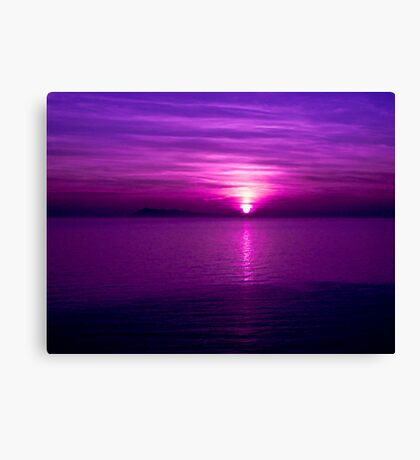 As Twilight meets Sunset Canvas Print