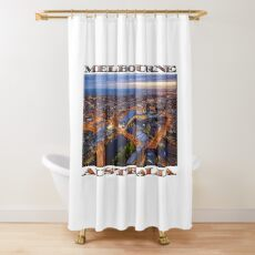 Stunning Melbourne (widescreen poster on white) Shower Curtain