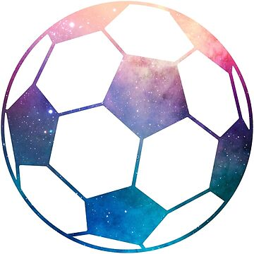 Galaxy Soccer Ball Purple Blue Nebula by Distrill