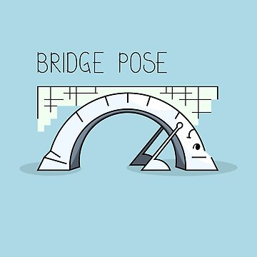 Bridge yoga pose comic drawing by SooperYela