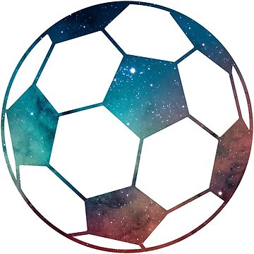 Galaxy Soccer Ball Blue Red Pink Nebula by Distrill