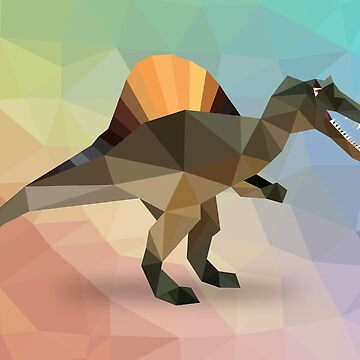 Spinosaurus Dinosaurs Low Poly Art by IvonDesign