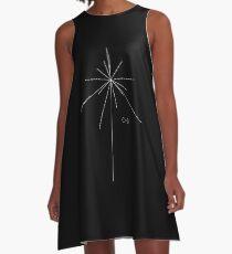 Earth Pulsar Coordinates A-Line Dress