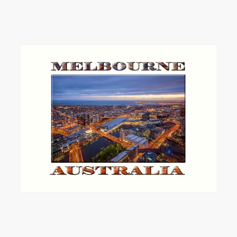 Stunning Melbourne (poster on white) Art Print