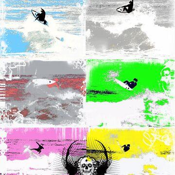 Surfers Punting collage SRC by punkrocksurfer